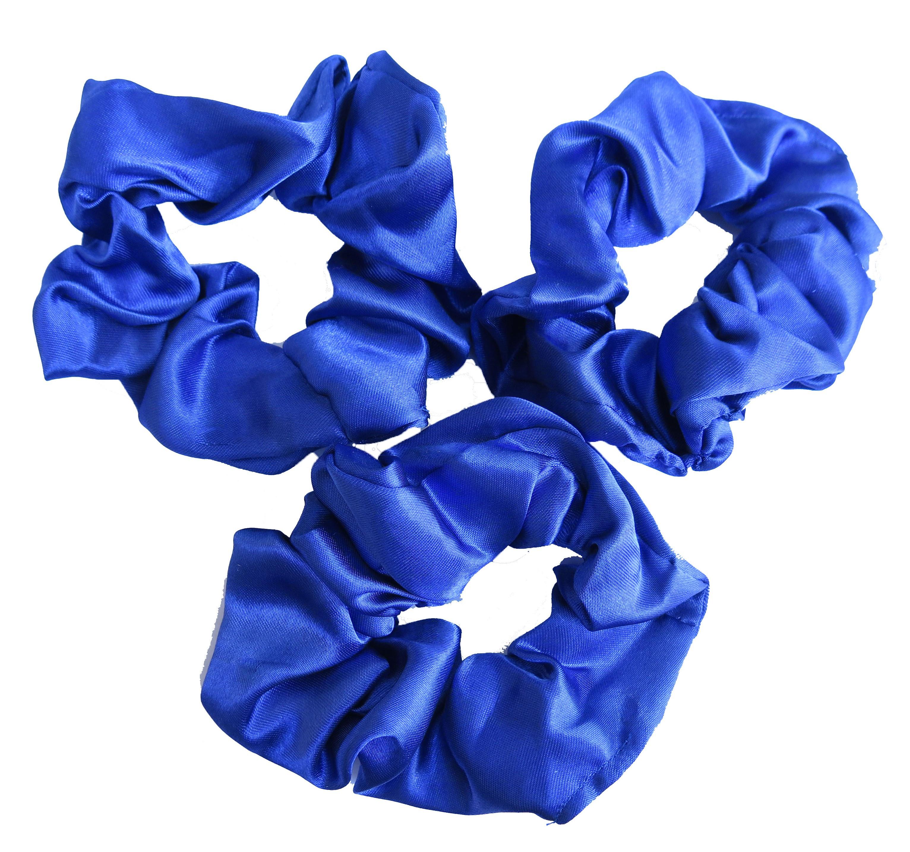 School Colours Hair Accessories Scrunchie 3 Pack Royal