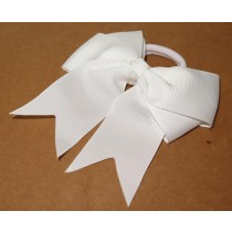 Large Grosgrain Bow White