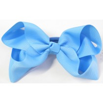 Large Grosgrain Bow Sky Blue