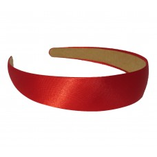 Satin Hair Band Red