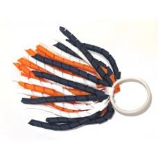 Korker Large Tie Navy Orange White