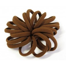 Large Soft Hair Ties 20 Bundle Brown