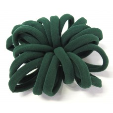 Large Soft Hair Ties 20 Bundle Green