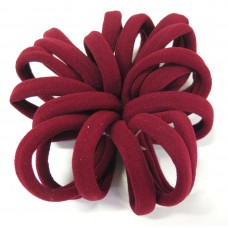 Large Soft Hair Ties 20 Bundle Maroon