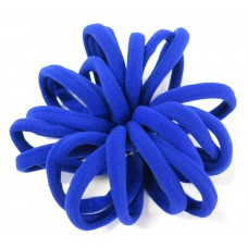 Large Soft Hair Ties 20 Bundle Royal Blue