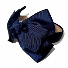 New York Bow Headband Navy