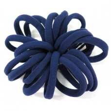 Large Soft Hair Ties 20 Bundle Navy Blue