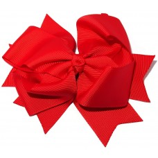 XL Grosgrain Bow Clip Red