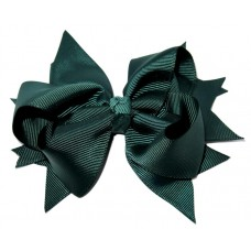 XL Grosgrain Bow Clip Green