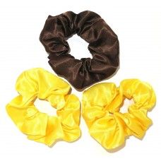 Scrunchie 3 Pack Brown Yellow
