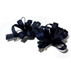 Korker Flower Clips Navy Blue