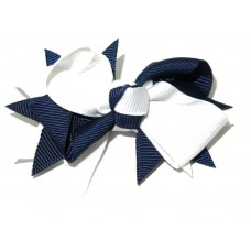 Spiky Clip Light Navy White