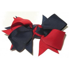 New Spiky Clip Navy Red