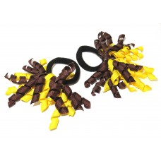 Korker Mini Ties Yellow Brown