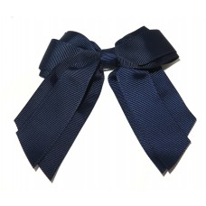 Mini Cheer Bow Navy Blue