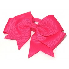 Large Grosgrain Bow Hot Pink