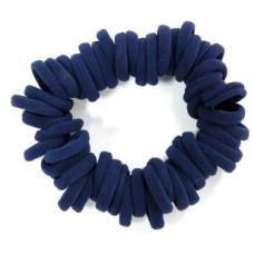 Small Soft Hair Ties 50 Bundle Navy Blue