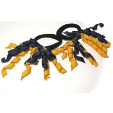 Korker Mini Ties Navy Gold