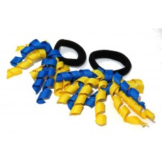 Korker Mini Ties Royal Blue Yellow