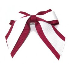 Mini Cheer Bow Maroon White