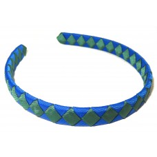Diamond Check Hair Band Green Royal