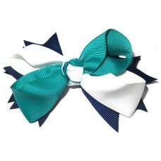 Spiky Clip Navy White Mallard