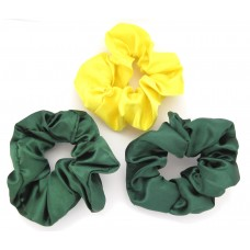 Scrunchie 3 Pack Green Yellow