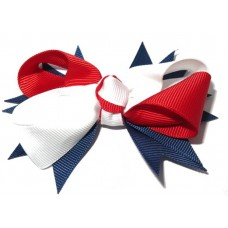 Spiky Clip Navy Red White