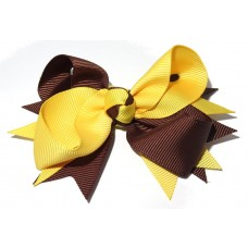 Spiky Clip Brown Yellow