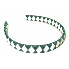 Diamond Check Hair Band Green White