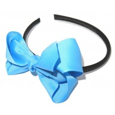 Grosgrain Bow HB Sky Blue