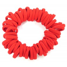 Small Soft Hair Ties 50 Bundle Red
