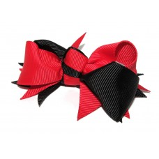 Spiky Clip Red Black