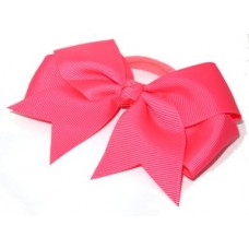 Large Grosgrain Bow Fluro Pink
