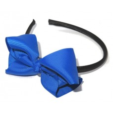 Grosgrain Bow HB Royal Blue