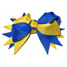 Spiky Clip Royal Blue Yellow