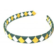 Diamond Check Hair Band Aussie