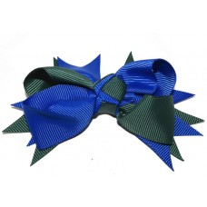 Spiky Clip Royal Blue Green
