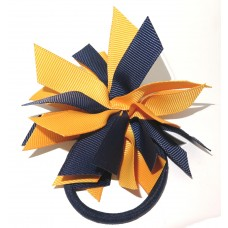 Fire Cracker Tie Navy Gold