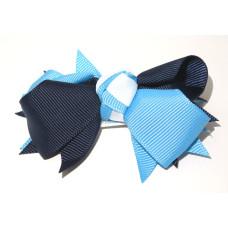 Spiky Clip Navy Sky White