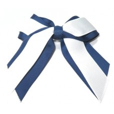 Mini Cheer Bow Navy White