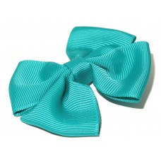 Pin Wheel Grosgrain Bow Mallard
