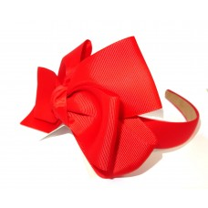 New York Bow Headband Red
