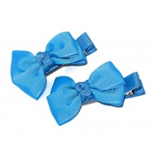 Small Grosgrain Bows S Blue
