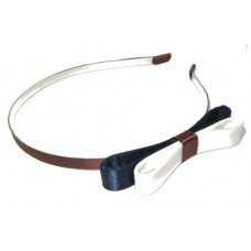 Navy Brown White Headband