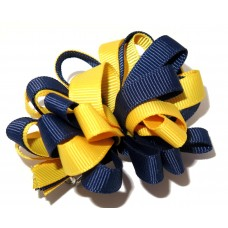 Korker Loopy Clip Navy Yellow