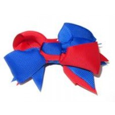 Spiky Bow Royal Red