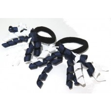Korker Mini Ties Navy White