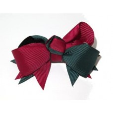Spiky Clip Green Maroon