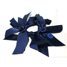 Lg Satin Scrunchie Navy Blue